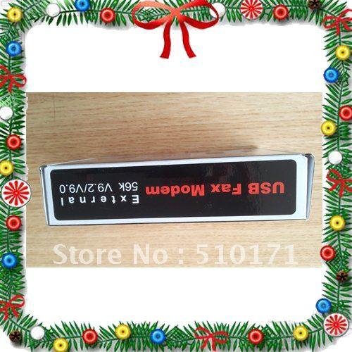 [Free shipping] External USB2.0 56K V9.2/V9.0  3in1 Data/Fax/Voice SB Fax Modem