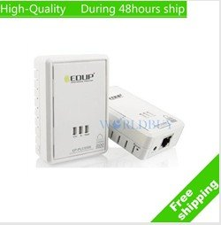 EDUP EP-PLC5506 200Mbps Starterkit PowerLine Network Electric Power Adapter Link Ethernet Homeplug Free Shipping DHL HKPAM CPAM