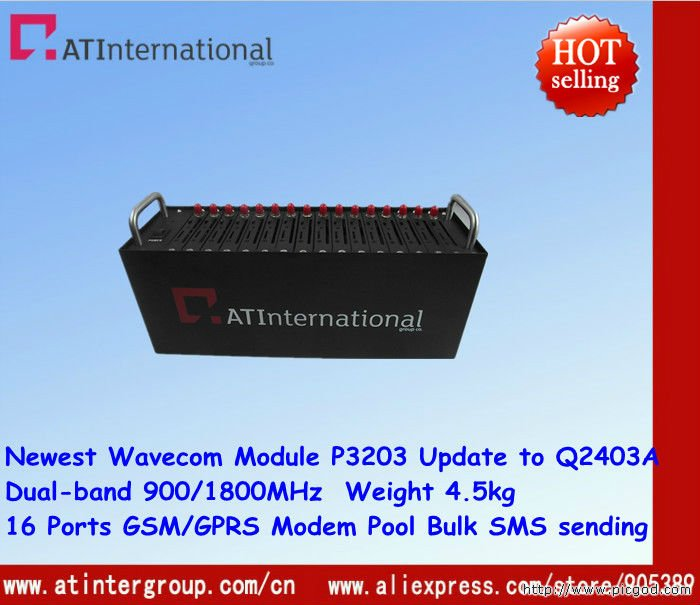 Free Shipping !16 Ports GSM/GPRS Modem Pool With Module P3203A Upgrade to Q2403A