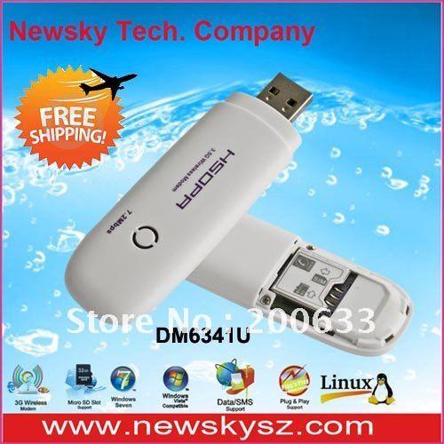 Hot 7.2Mbps HSDPA Mobile Wireless Modems 3G DM6341U