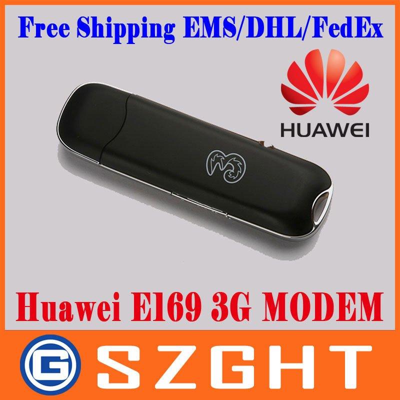 EMS/DHL/FedEx Free shipping HUAWEI E169 HSDPA 3G modem Unlocked USB modem 3G wireless Modem