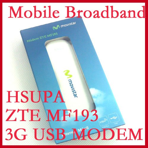 ZTE MF193 UNLOCK 7.2MBPS 3g wcdma usb Dongle