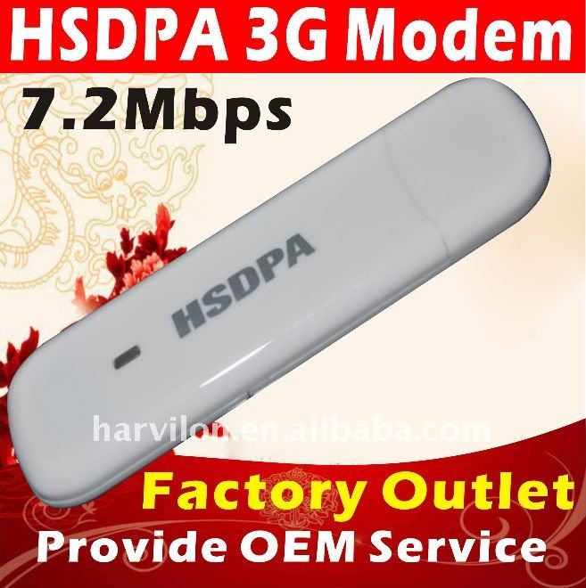 3G 7.2Mbps HSDPA USB Wireless Modem Dongle
