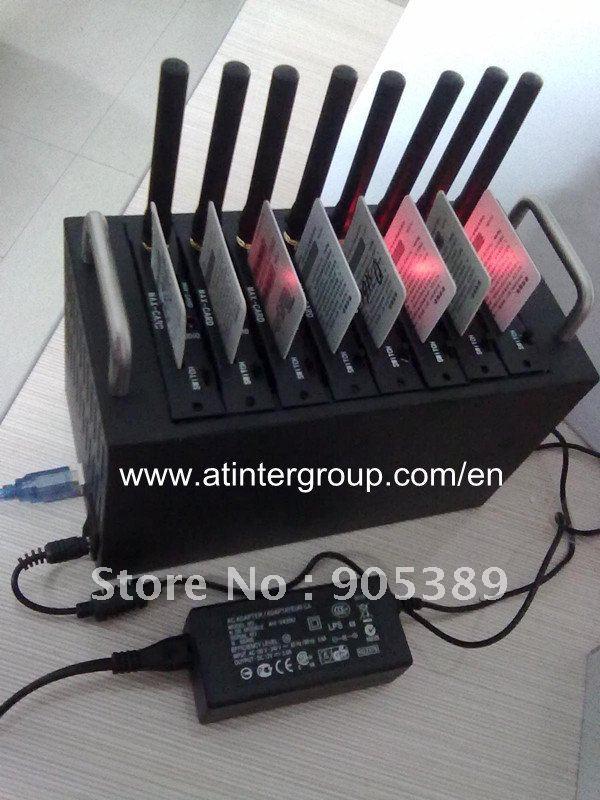 8 Port Simbank,GSM GPRS EDGE 8 SIM CARDS Modem Pool-2403