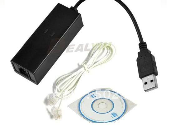 USB 2.0 Fax Modem with External 56K V.92/ V.90 for XP for Vista for Linux for Windows7