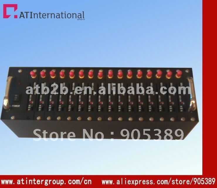 Free shipping factory supply GSM Modem Pool 16 Ports WAVECOM Q2303A Modem for Wavecom USB AT Commands