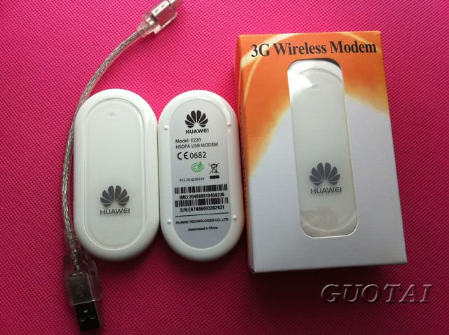 Wholesale Unlock  3G Huawei E220 3G usb hsdpa Modem  E220 3G Dongle  E220 3G Adapter  E220 3G Vodafone For Tablet PC and Netbook