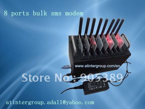 Frequency automatic switching with bulk sms machine,8 port gsm/gprs sms MODEM POOL-wavecom 2406