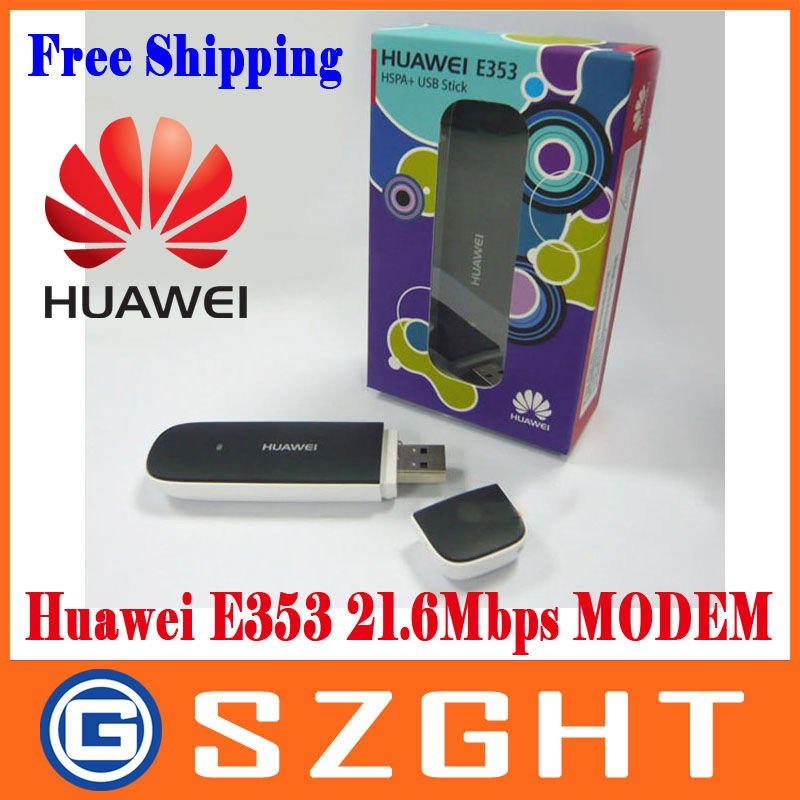 DHL/EMS/FedEx Free shipping Huawei E353 3G wireless Modem 21.6Mbps wireless unlocked 3G band(900/2100Mhz)