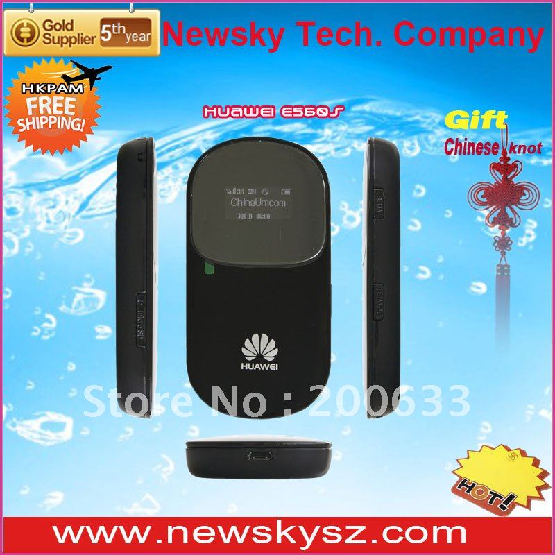 7.2 Mbps HSDPA Original and Unlocked OLED Display 1500mAH Battery HUAWEI 3G Router E560 Support TF Card Hongkong Post Free