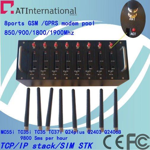2012 HOT SALE  bulk sms gateway software 8 ports wavecom modem pool Q24plus