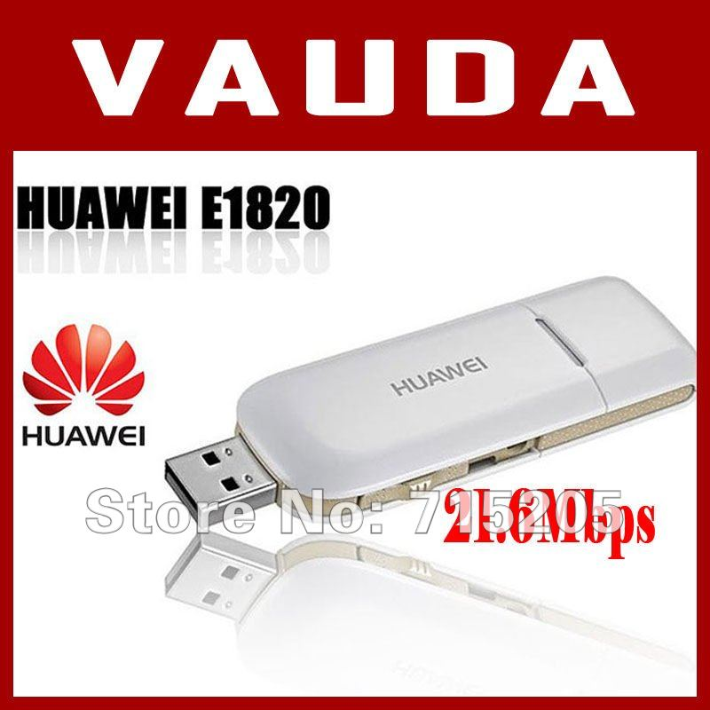 EMS/DHL/FedEx Free shipping  Huawei E1820 3G USB Wireless Modem 21.6M Support CE And External Antenna