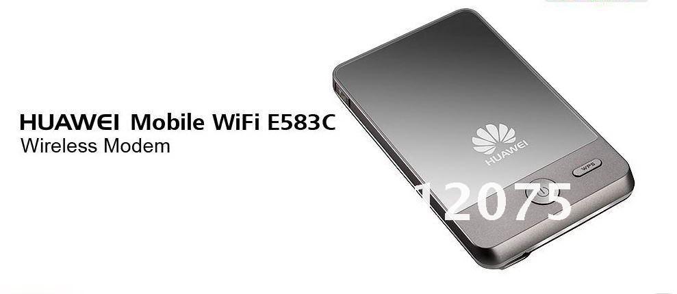 Free shipping wholesale Huawei E583c  3G wireless Modem mobile WiFi hotspot HSDPA 7.2Mbps