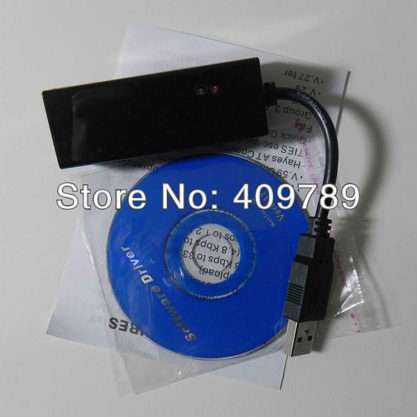 50Pcs/Lot Win7/Win8 Data Fax Modem 56k Usb2.0 Adapter With LED Light