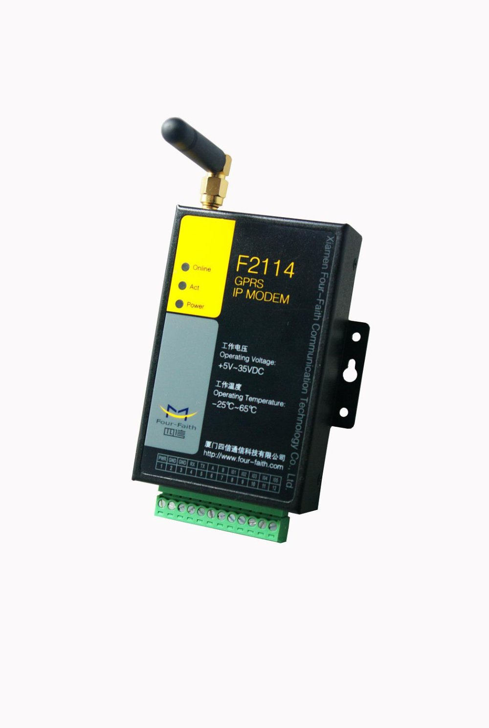 Wireless Industrail Grade 3G Modbus Modem I/O For Data Transmission PLC,Datalogger,Controller F2414P