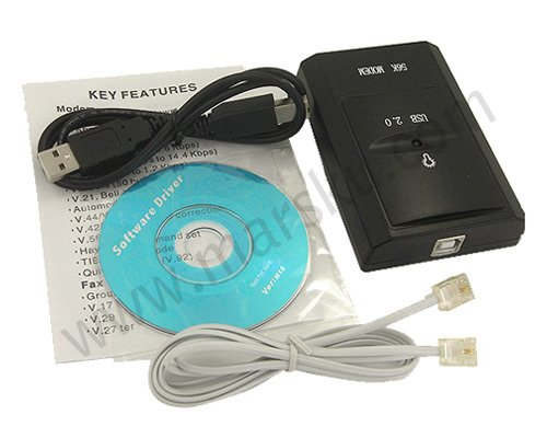 USB Fax Modem 56K External V.92 Dial Voice + Free shipping with Tracking Number 154