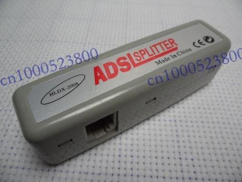 RJ11 ADSL Modem Phone Line Splitter Adaptor Socket Plug