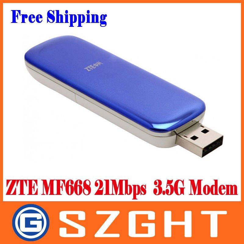 Free shipping ZTE MF668 21Mbps Wireless 3.5G HSUPA Usb Modem