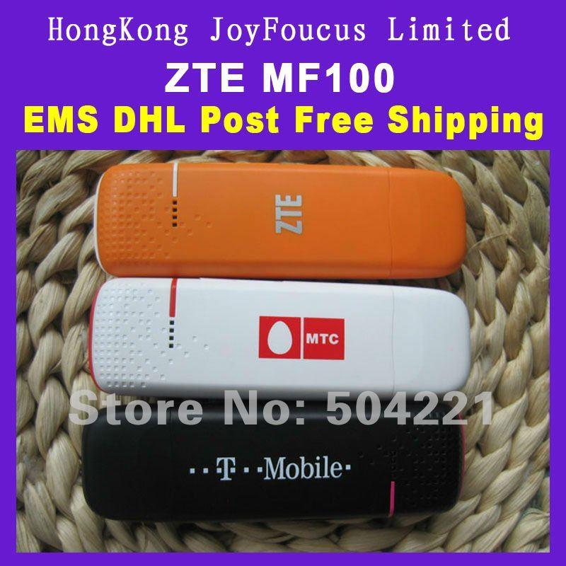 WCDMA/HSDPA/UMTS/EDGE/GPRS/GSM 3G/2G Modem ZTE MF100,PK MF633/MF636 T-mobile mobile broadband USB,New,freeshipping