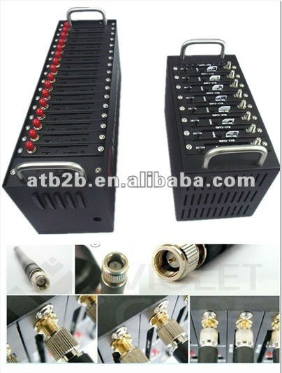 free shipping  GSM Modem, GSM Wireless Terminals,support 16 sim cards to cluster send sms wavecom usb100% factory price