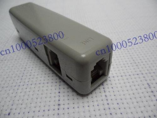 RJ11 ADSL Modem Phone Line Splitter Adapter Socket