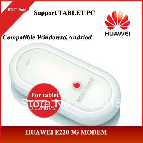 Free Shipping Unlocked Modem HUAWEI E220  Plug & Play 3G Wireless USB  Compatible with Most Tablets