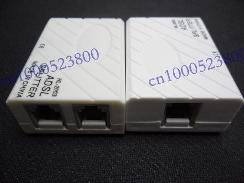 Phone Telephone RJ11 Line ADSL Modem Splitter Adapter