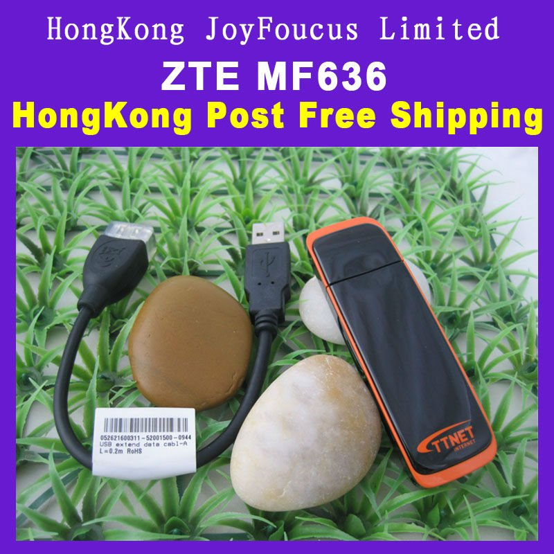 Free shipping ZTE MF636 USB Modem 3G Modem Dongle GSM Wcdma Modem
