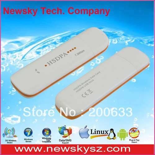 7.2Mbps High Speed Qualcomm MSM6280 3G USB Modem DM6344U Support USSD & PC Voice & TF Card