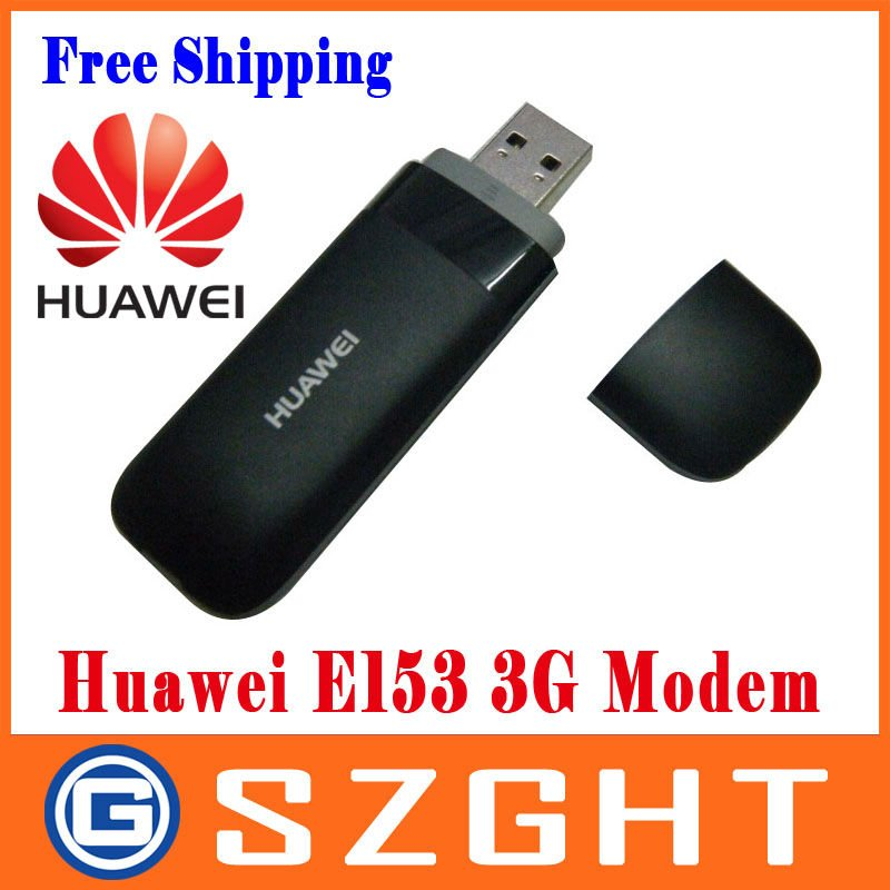 Huawei E153 HSDPA 3G SIM Card USB 2.0 Wireless Modem Adapter with TF Card Slot - White,Free Shipping