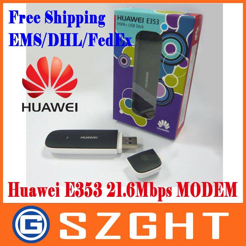 EMS/DHL/FedEx Freeshipping New Huawei E353 3G Wireless Modem 21.6Mbps