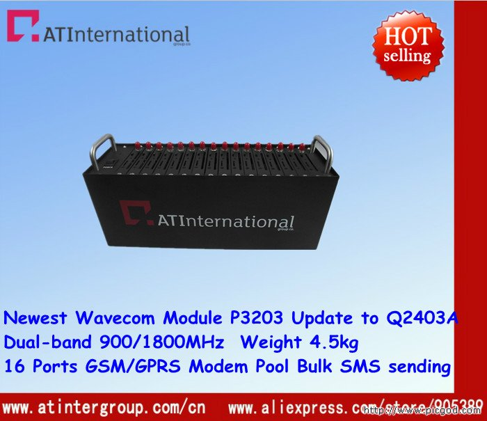 Cheapest Wavecom 16 Ports GSM/GPRS Modem Pool With Module P3203A Upgrade to Q2403A Dual-band 900/1800MHz