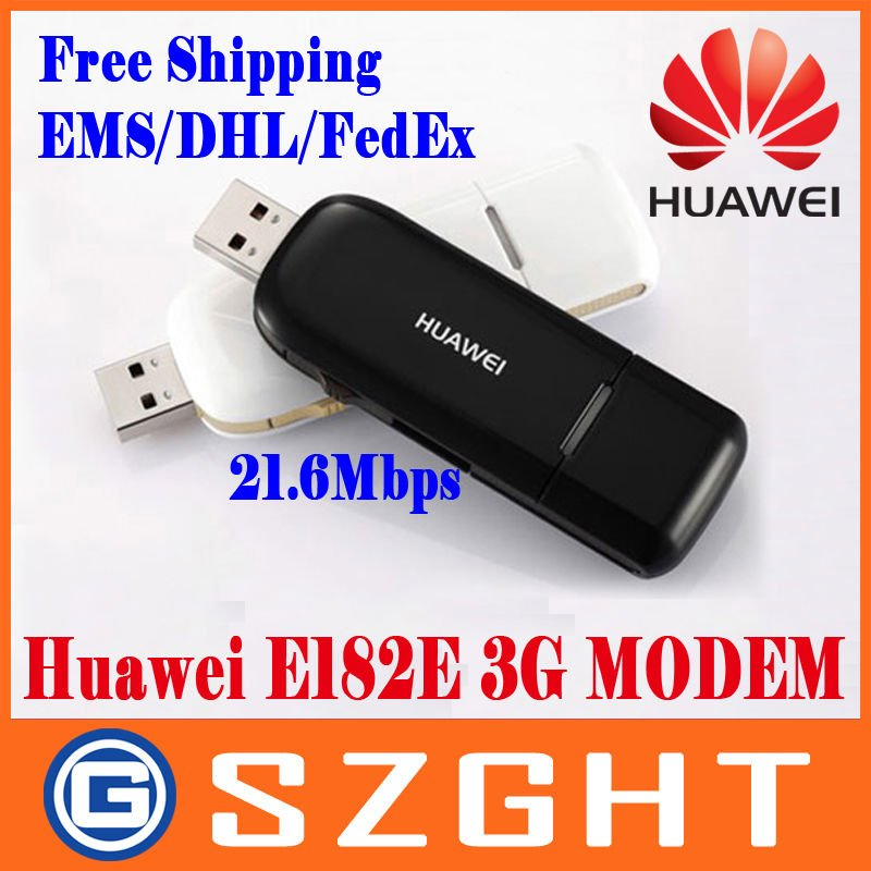 EMS/DHL/FedEx Free shipping HUAWEI E182E WCDMA 3G Modem USB Modem HSPA+ High Speed 21.6Mbps