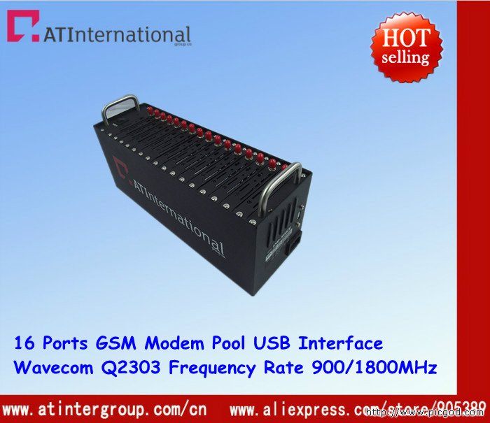 GSM 16 Channels Modem Pool For Bulk SMS Sending 900/1800MHz Wavecom Q2303A