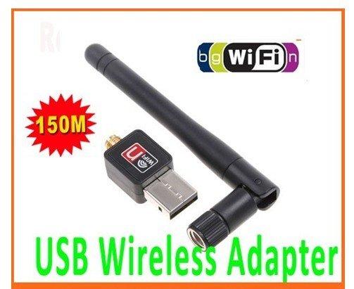 Mini 150M USB WiFi Wireless Network Card 802.11 n/g/b LAN Adapter with Antenna,Free Shipping 10pcs/lot