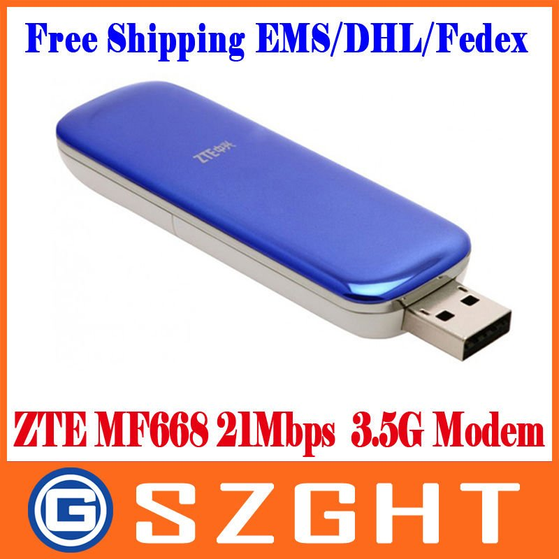 ZTE MF668 21Mbps Wireless 3.5G HSUPA Usb Modem Free shipping EMS/DHL/Fedex