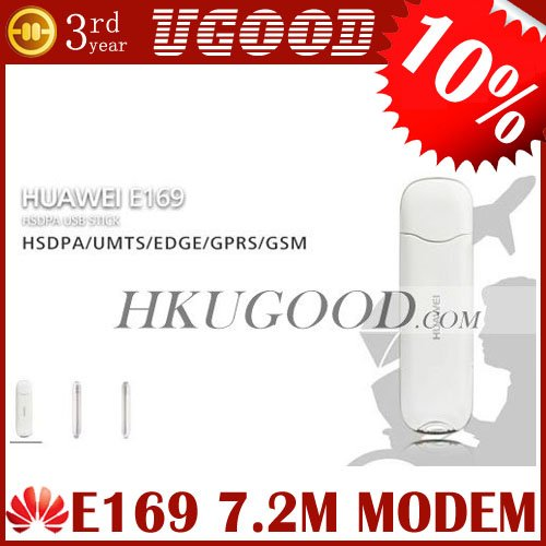 Huawei E169 HSDPA USB Modem 7.2 M 12 Months Warranty Freeshipping Support External Antenna And CE