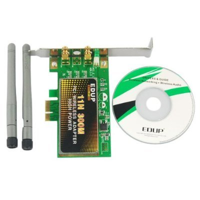 New EDUP EP-9601 300Mbps Ethernet 11N PCI Wireless N Adapter Lan Card