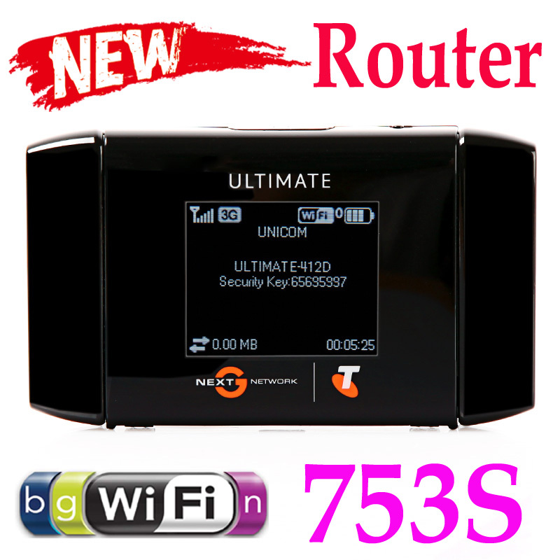 Unlocked 42Mbps Wireless Hotspot WiFi Mobile Broadband Modem Router AirCard 753S C1486 Free Shipping