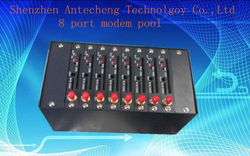 8 port modem pool with Q2403 GSM/GPRS modem