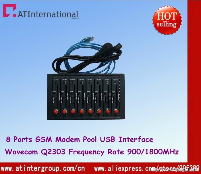 Dual-band Wavecom Q2303 Module GSM 8 Ports USB Modem Pool For Bulk SMS Sending