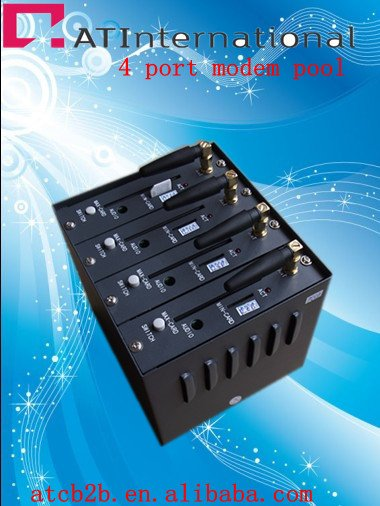 4 port modem pool SMS sending with Q2303