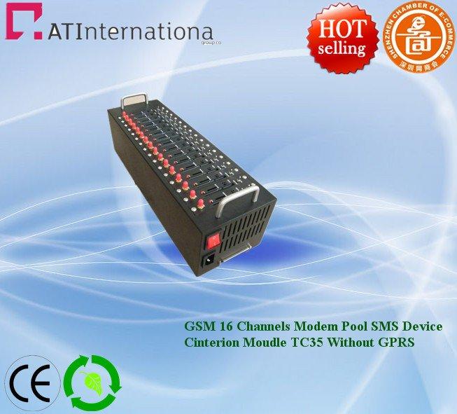 900/1800MHz Cinterion Moulde TC35 16 Channels GSM Modem Pool USB Interface