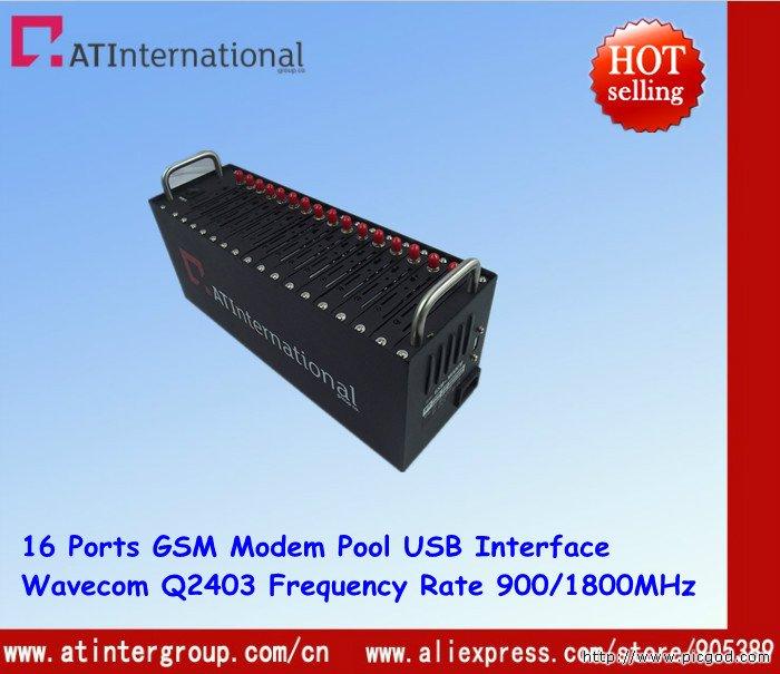 16 Ports GSM Modem Pool With Original Wavecom Q2403A USB Interface