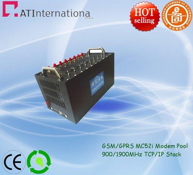 GSM/GPRS MC52i 8 Ports Modem Pool 900/1900MHz USB Interface
