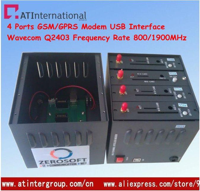 Wavecom Q2403 4 Ports GSM/GPRS Modem With USB Interface