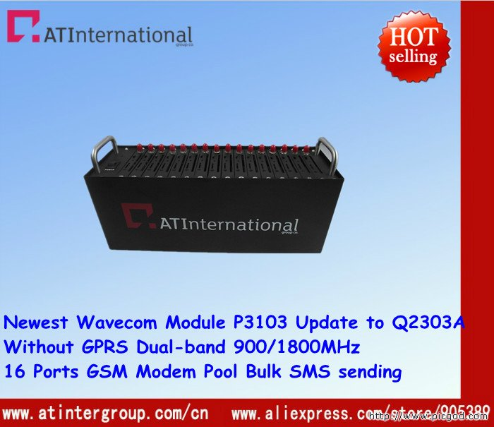 Cheapest Dual-band 16 Ports GSM Modem pool with USB for Bulk SMS sending