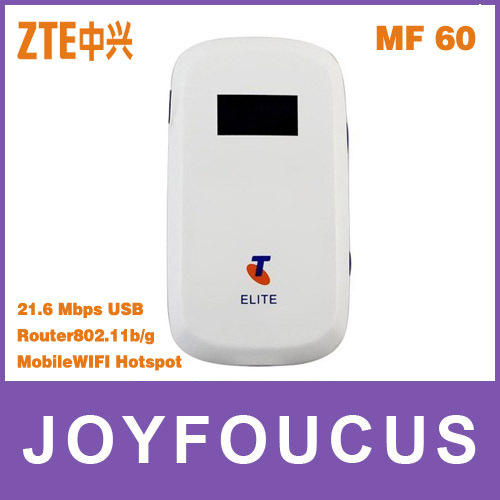 ZTE MF60 21.6M WCDMA 3G wifi wireless 3G modem,wireless router for ipad,iPhone ,PK MF 61 AL621,Hong Kong post free shipping