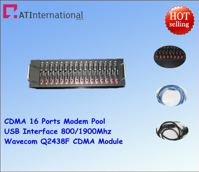Newest !CDMA 16 Ports Modem Pool With Wavecom Q2438F USB Interface 800/1900MHz