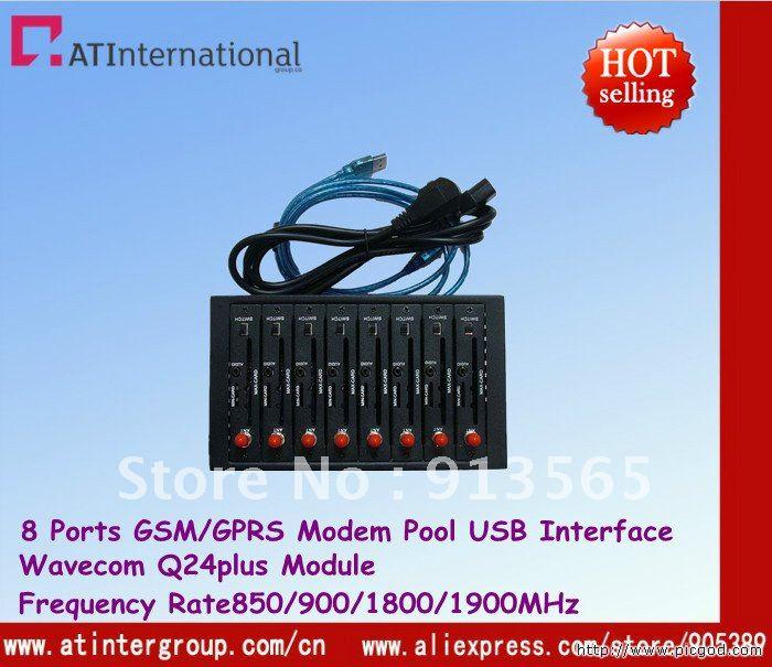 Duad-band 8 Ports Modem Pool With Wavecom Q24plus USB Interface